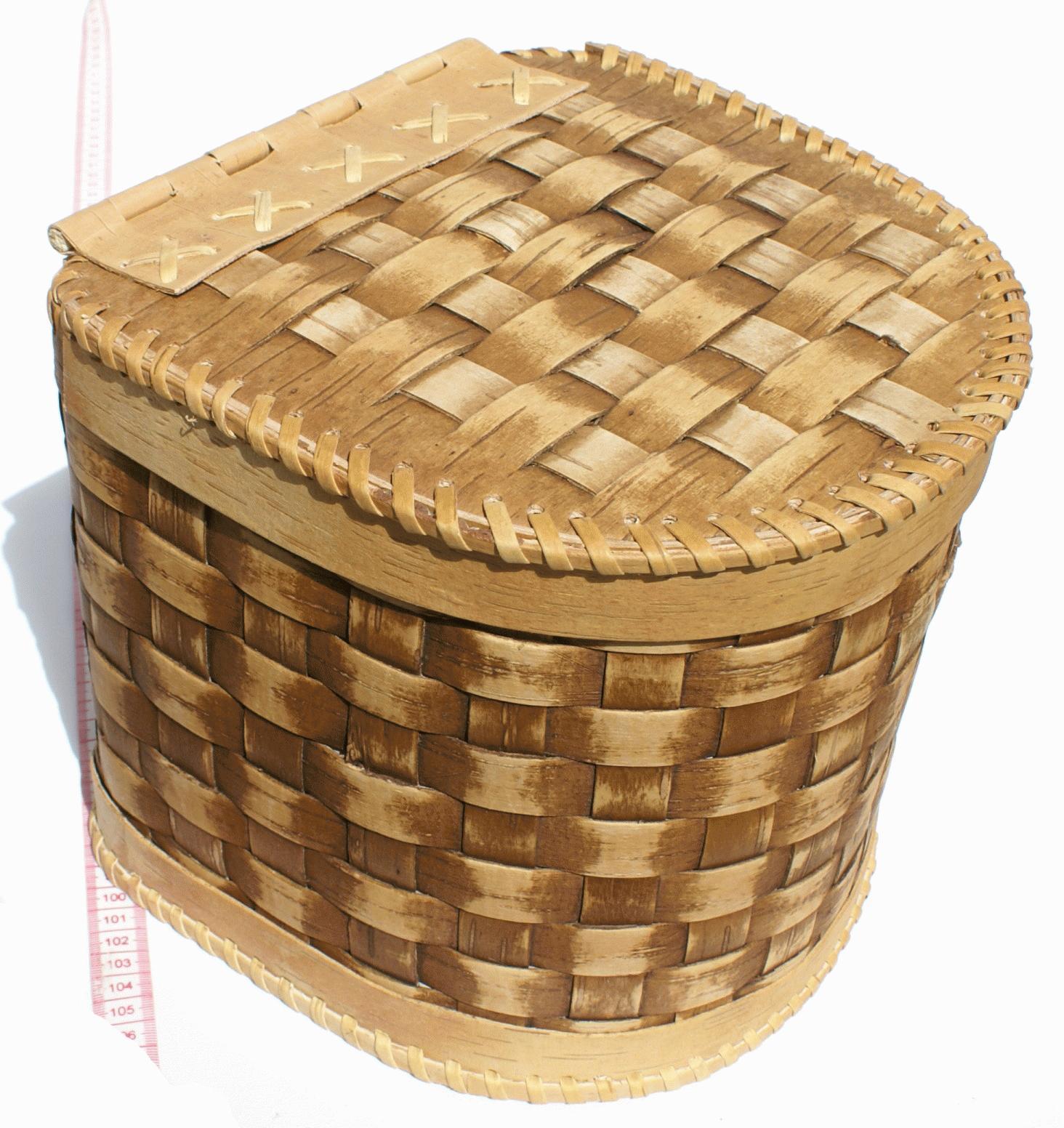 Cesta de madera tejida artesanias del mundo - Cestos de madera ...