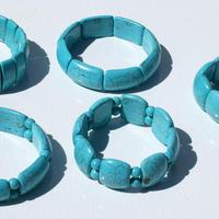 Pulseras de piedras turquesas