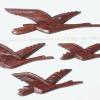 Aves, tallados de madera
