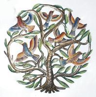 Arbol de la vida con aves pintados