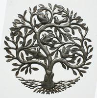 Arbol escultura de metal