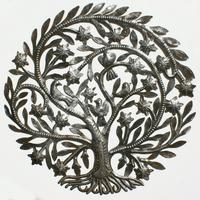 Arbol de metal con flores