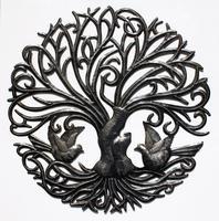 Arbol de metal, con aves