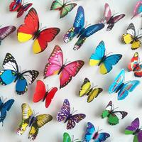 Set de 12 mariposas multicolor