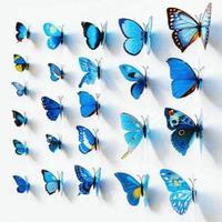 Set de 12 mariposas azules