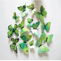 Set de 12 mariposas verdes