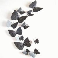 Set de 12 mariposas negras