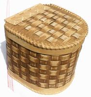 Cesta de madera tejida