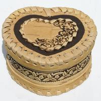 Caja de abedul - corazon