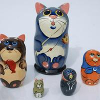 Set de 5 gatos