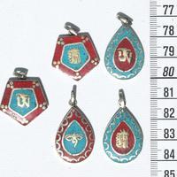 Colgantes de color turquesa