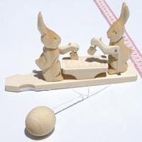 Conejos con col