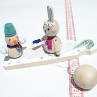 Conejito y el muñeco de nievemuñeco
