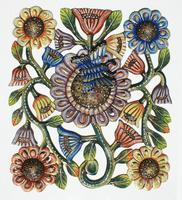 Flores pintados a mano