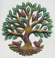 Arbol pintado a mano con aves