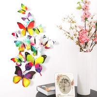 Set de 12 mariposas multicolor
