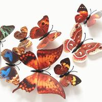 Set de 12 mariposas cafe