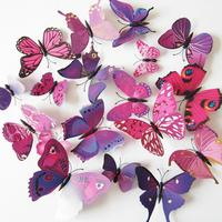 Set de 12 mariposas morados