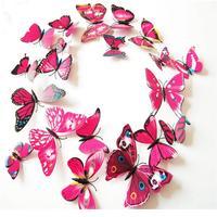 Set de 12 mariposas rosadas