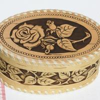 Caja decorativa redonda