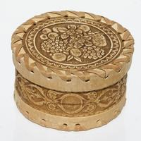 Caja redonda de abedul