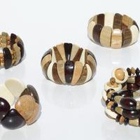 Pulseras de madera