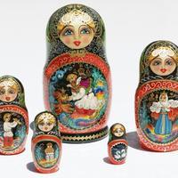 Munecas rusas pintadas a mano