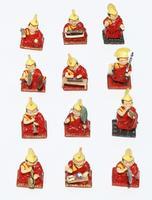 Estatuas de monjes Tibetanos